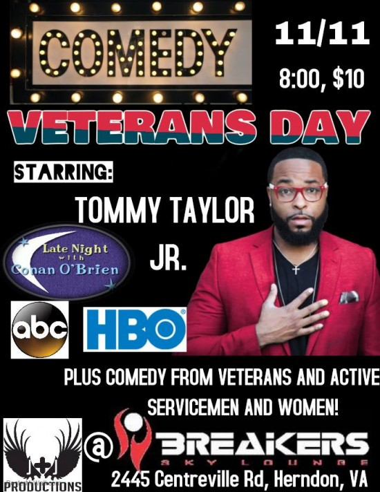 Veterans Day Comedy Show w/Tommy Taylor Jr.