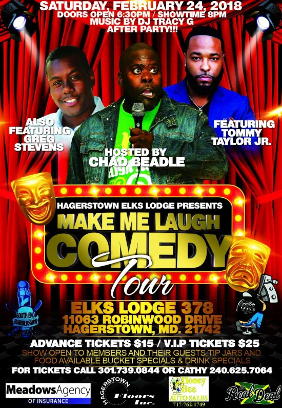 Make Me Laugh Comedy Tour w/Tommy Taylor Jr